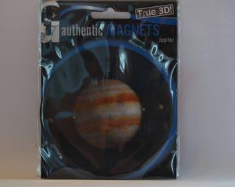 3D - Space magnet pad - Plantet Jupiter - round - diameter 9 cm