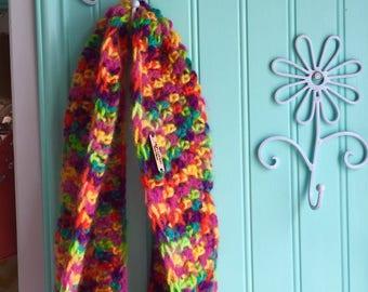 Infinity scarf - cowl - crochet scarf - crochet cowl - rainbow cowl - rainbow infinity scarf - crochet scarf - scarf - rainbow scarf