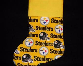 Steelers Holiday Stocking - Handmade Stocking