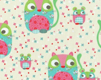 coupon with mice kids patchwork fabric