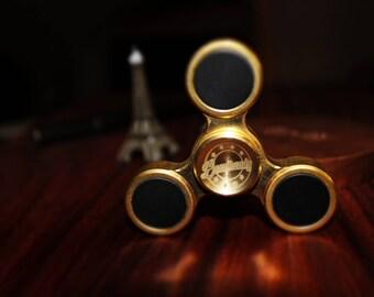 Brass Fidget Spinner Exclusive Gold & Black ( Brass ) Long spin Life