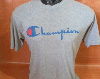 Vintage Champion Tshirts Vintage Champion Tshirts Poly Cotton Made in USA
