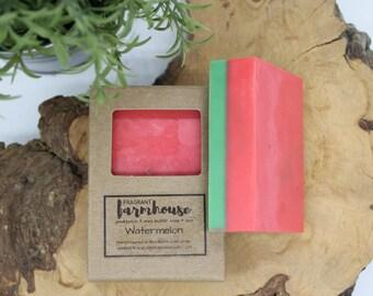 Watermelon - Kids Soap - Shea Butter - All Natural - Farmhouse - Fresh  - Natural Soap - Farmers Market - Fun Soap - Handmade Soap