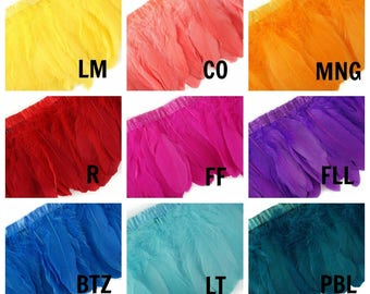 1 Yard NEW Low Price - Parried Goose Pallet Feather Fringe - FPP6