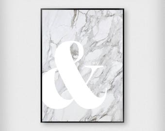 "Marble And ""&"" Print 