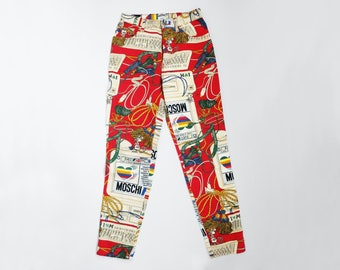 """Vintage Moschino Computer Print Pants Size S 28"""" Moschinet jeans"""