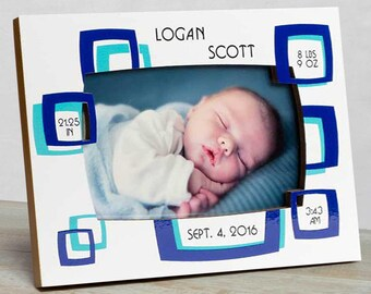 Personalized Baby Picture Frame, Baby Boy Picture Frame, New Baby Boy Frame, Baby Boy Frames, Baby Boy Birth Frame, Picture Frame Baby Boy
