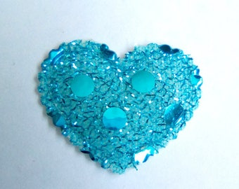 Heart applique fabric sequins 2, 5x2mm