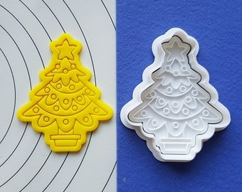 Christmas Tree 02 Cookie Cutter and Stamp