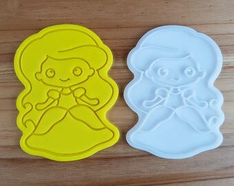 Ariel (A Little Mermaid)  Cookie Cutter and Stamp