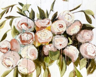 Canvas Print-Romantic Garden Roses, Small