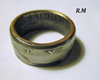 JF Kennedy Half Dollar Coin Ring