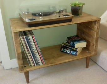 Handmade Record Player Table/TV Unit/Display Unit/Side Table