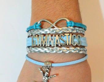 GYMNASTIC BRACELET-Gymnast Gift-Gymnast Jewelry-Coach Gift-Gymnastics-Gymnast-Infinity-Infinity Bracelet-Split-Gymnastics Jewelry-Team Gift