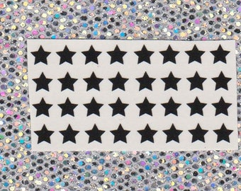 32 star vinyl decals for nail art. Available in 20 colours including holographic, Nail stickers, nail decals, nail vinyls, galaxy, space