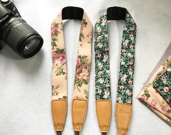 Promotion discounted items! NuovoDesign floral camera strap (Many colors available) for DSRL and mirrorless