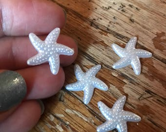 White starfish resin flatback 38mm sea life wedding favor coastal sea star beach themed party decoration ornament