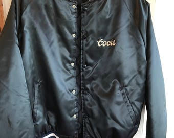 """Varsity Jacket Coors """"silver bullet"""" deadstock  1980's Authentic PRICE LOWERED for 4th of july weekend!"""