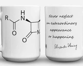 Fleming and Penicillin Molecule mug