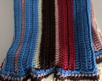 Handmade Blanket Handmade Handmade Afghan Granny Blanket Granny Square Blanket Vintage Throw Granny Throw Stroller Blanket