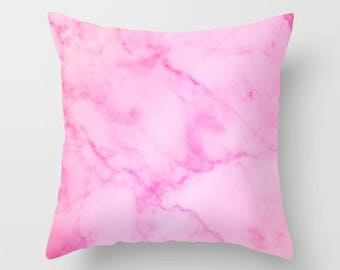 Marble Collection: Pink Marble Pillow, Pink Marble Accent Pillow, Blush  Pink Decorative Pillow