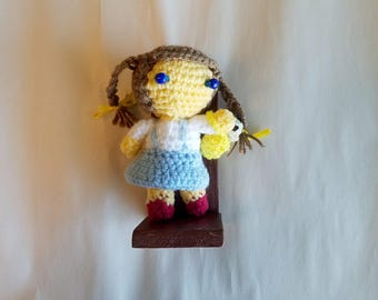 Amigurumi Dorothy of the Wizard of Oz