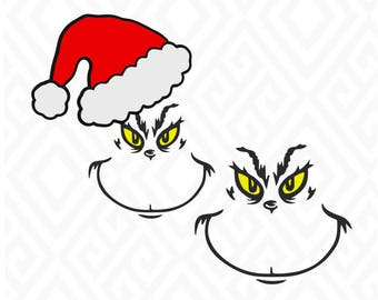 Grinch Face Cuttable Design in SVG; DXF; PNG; Ai; Pdf; Eps