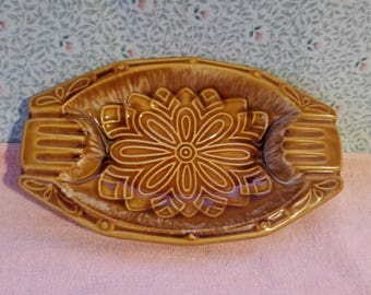 """Au Gratin / Casserole Made In USA Pottery Brown - 10.25"""" x 6.25"""""""