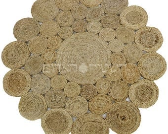 SALE Round Jute Natural Handmade Special rough Weave Rug Area Rug Living Room
