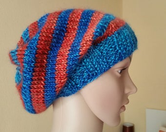 Beanie and hand warmers, Strickbeanie, knit leg warmers, leg warmers, SET, Knit Beanie, knit leg warmers, stripes CAP, Streifenbeanie, unisex Cap