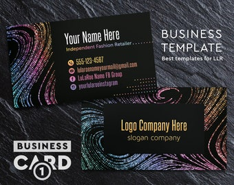 Lularoe business cards etsy sg llr business cards custom business card home office approved fonts color reheart Gallery