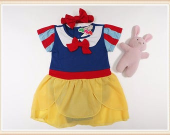 Snow white Halloween Baby girl's Costume ,Good for birthday, Good for Photo shoots , Toddler little cute dress