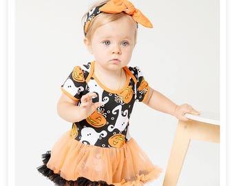 Baby Girl, toddlers, Girls, Halloween costume, dress with tutu skirt and headband