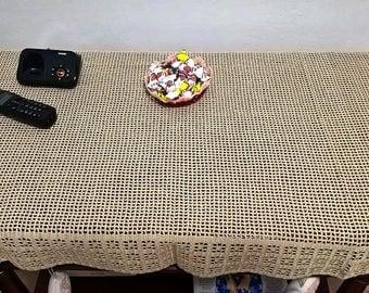 Crochet handmade cotton tablecloth