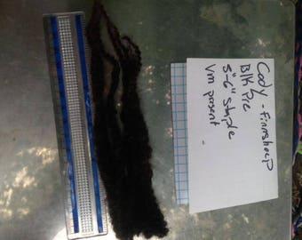 Raw Finnsheep fleece!! Black finn raw wool!! nice crimp, vm present