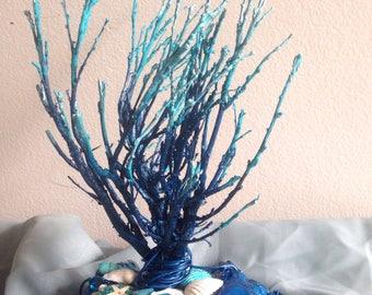 Nautical Themed Sage Branch Decor