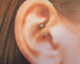 Daith Piercing, Curved Internally Threaded Barbell..16g..8mm