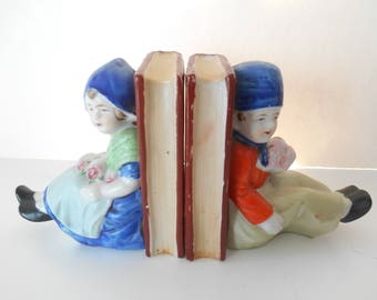 Small Book Ends - Girl and Boy from Holland?