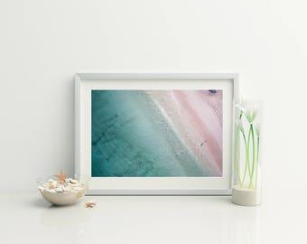 Beach Photo download // Beach Aerial Photo / Beach Print // Beach Decor // Ocean Photo // Ocean Print // Coastal Wall Art