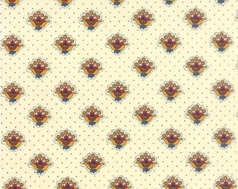 """End of Bolt - 33"""" Fabric - Moda Fabrics - Lorraine- Floral Petite Bouquets Ivory by American Jane - 100% Cotton - 33"""" x 44"""" Available"""