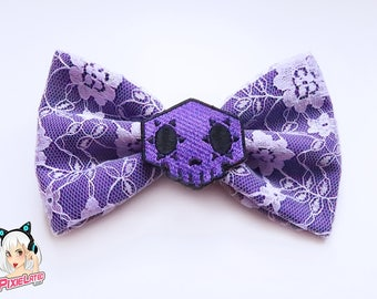 Sombra Overwatch Bow - Dark Purple Lace