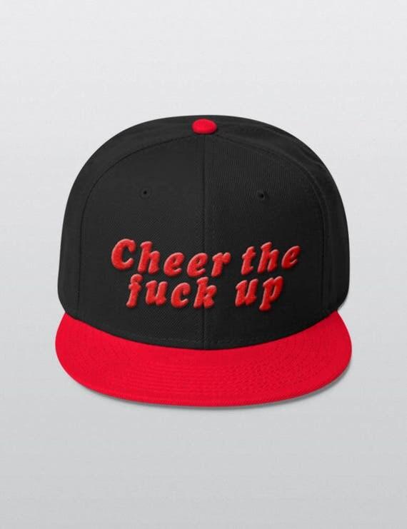 Cheer The Fuck Up | Wool Blend Snapback Cap