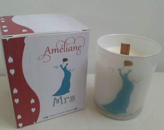 """Mrs"" scented candle / Perfumed candle ""Mrs"""