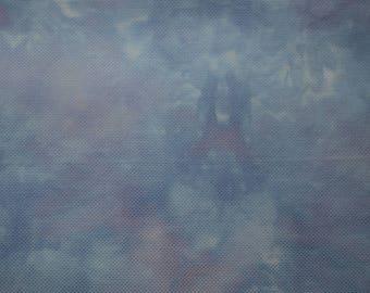 18 ct. Damask Aida Hand Dyed Cross Stitch Fabric - Deep River - 3