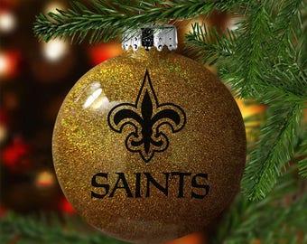Saints Christmas Ornament (SHATTER-PROOF, Disc-Shaped)