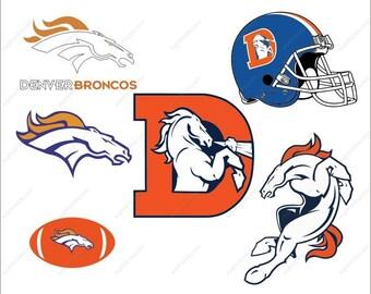 Denver Broncos svg horse svg bundle football party Svg Dxf Eps Png Ai Digital File design Print Mug Shirt Decal