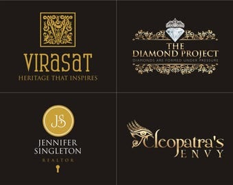 Logo, Logo Design, Custom Logo Design, Gold Logo, Business Logo, Unique Logo, Royal Logo, Luxury Logo, Elegant Logo, Luxe Design, Branding