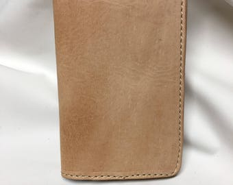 Field Notes Cover, Natural Leather, Personalization available