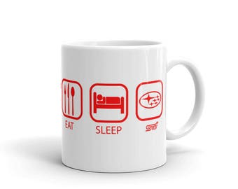 Subaru EAT SLEEP STI Ceramic Mug Coffee Tea