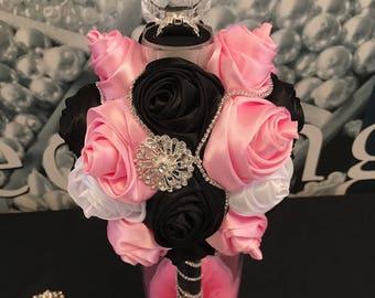 Mini Bride Wedding brooch Bouquet with Ring box.